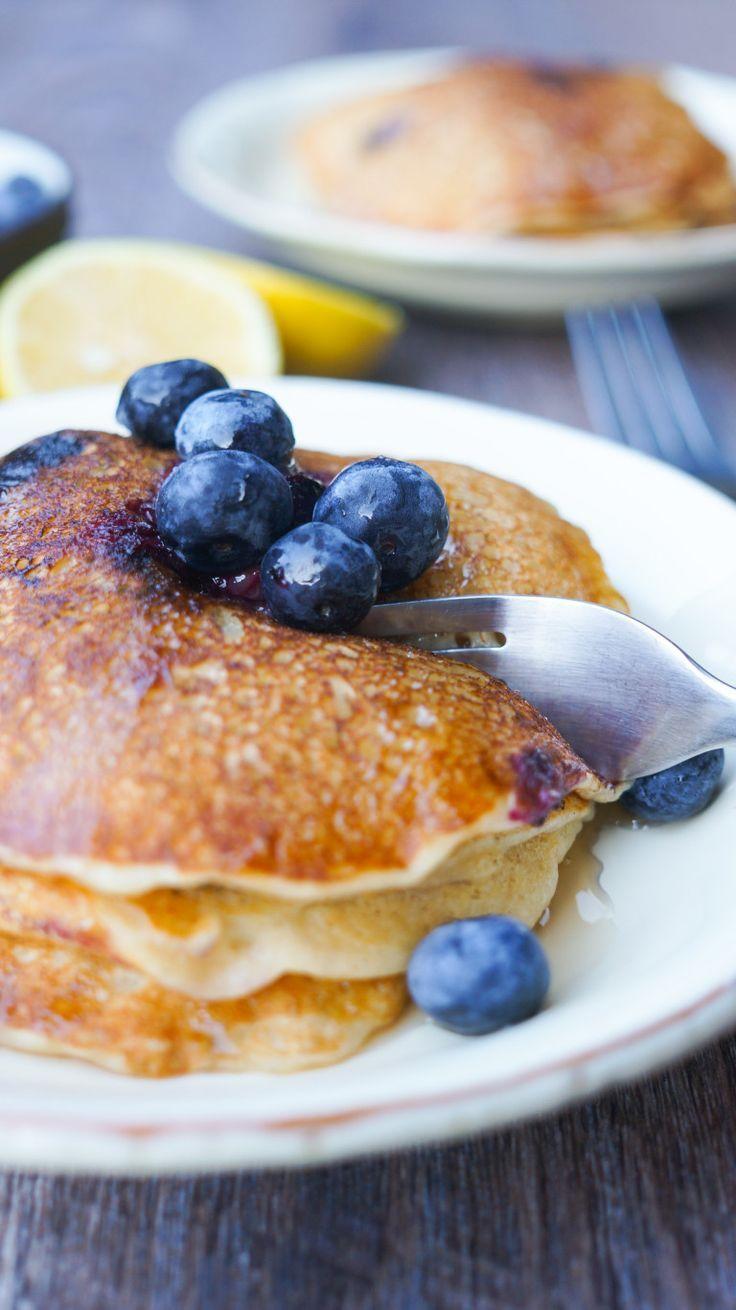 Lemon Blueberry Pancakes Kitschen Cat Recipe Lemon