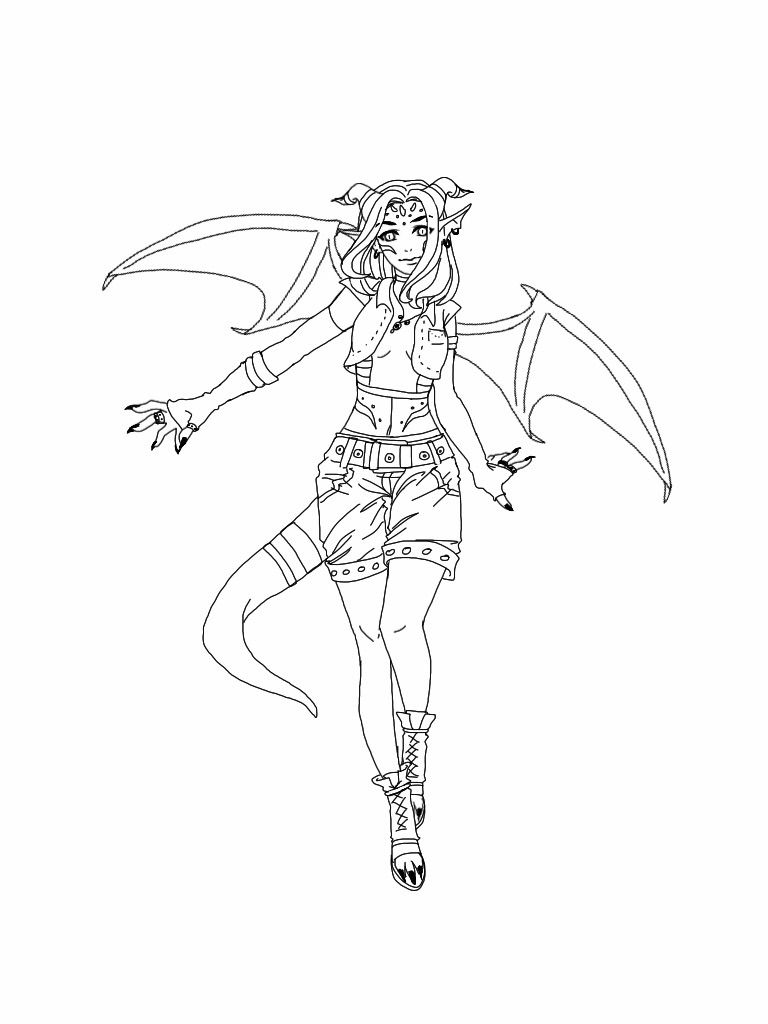 Tomboy Dragon Girl Cute Dragon Drawing Witch Coloring Pages Baby Dragons Drawing