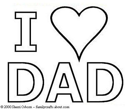 fathers day coloring pages i heart dad coloring page