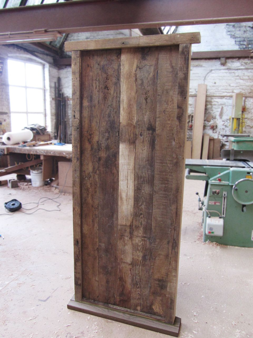 Rustic door. Oak from an old French barn was used to clad new door ...