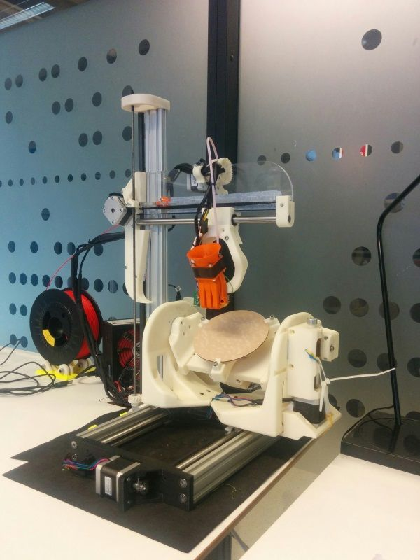 An amazing open source 5axis 3D printer built