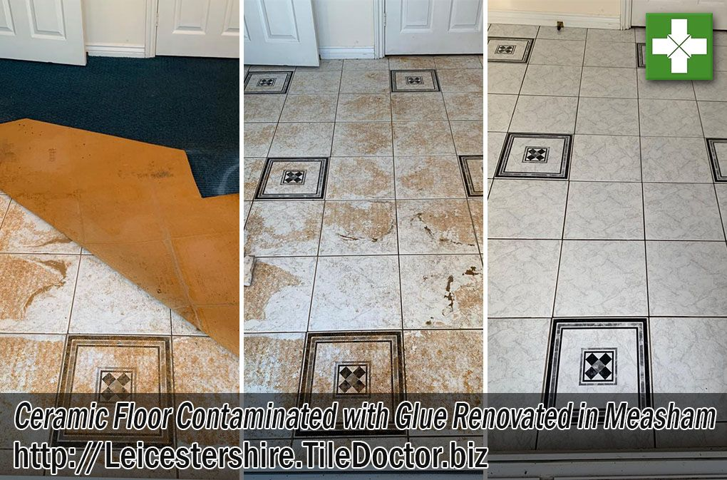 The Pictures Below Are Of A Ceramic Tiled Floor Covered In Carpet