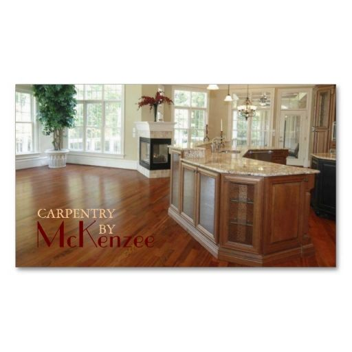 Carpentry Construction Mill Work Wood Flooring Business Card