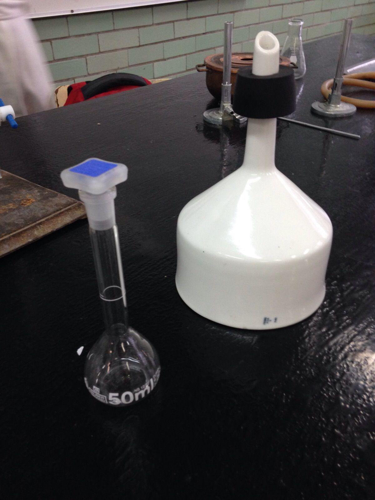Matraz Aforado Material Para Experimentacipon Embudo Buchner Material De Filtracion Materiales De Laboratorio Laboratorio Embudo