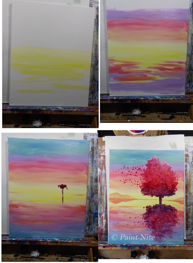 Easy Canvas Painting Ideas For Beginners Step By Acrylic Novocom Top