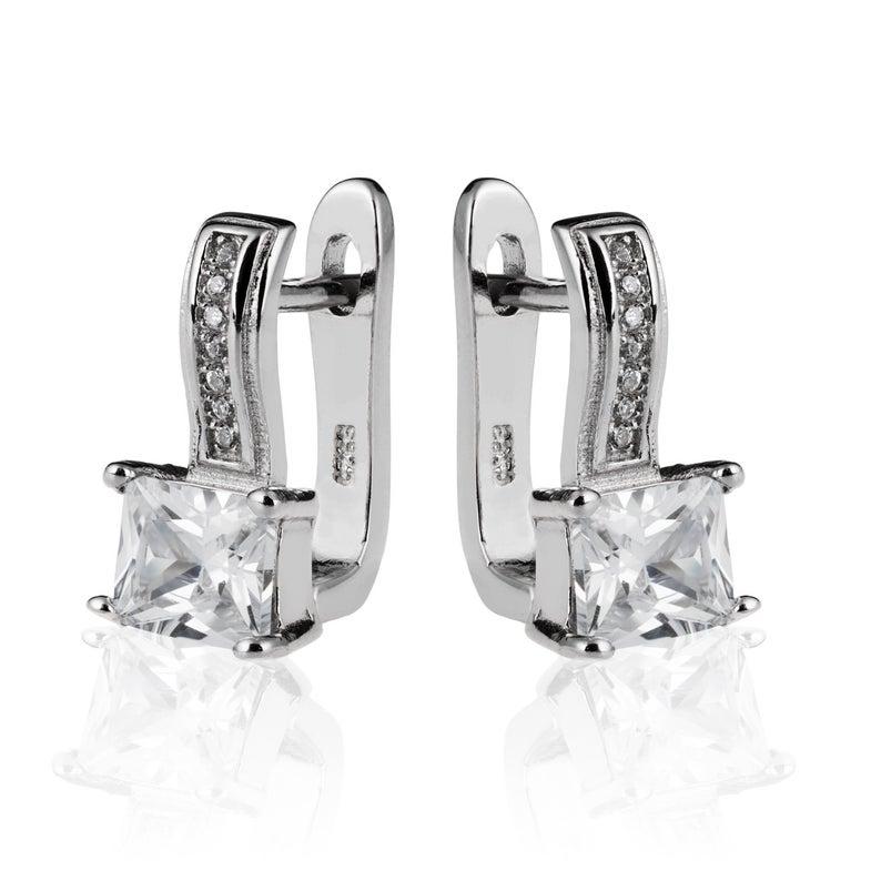 Cubic Zirconia Earrings Drop Earrings Silver Earrings 925 Sterling Silver Earrings Silver Cz Earrings Sterling Silver Earrings In 2020 Cubic Zirconia Earrings Silver Earrings Zirconia Earrings