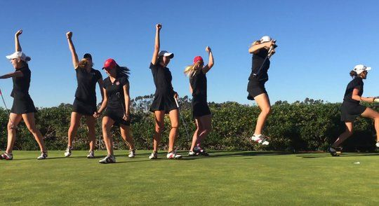 San Diego States Womens Golf Team Pulls Off Incredible Trick Shots