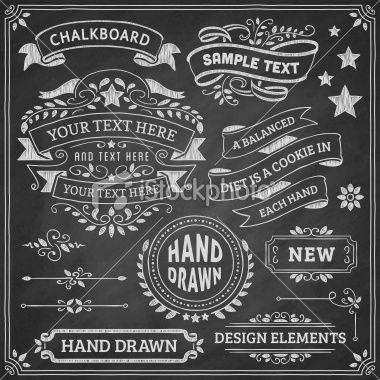chalkboard design elements royalty free stock vector art illustration