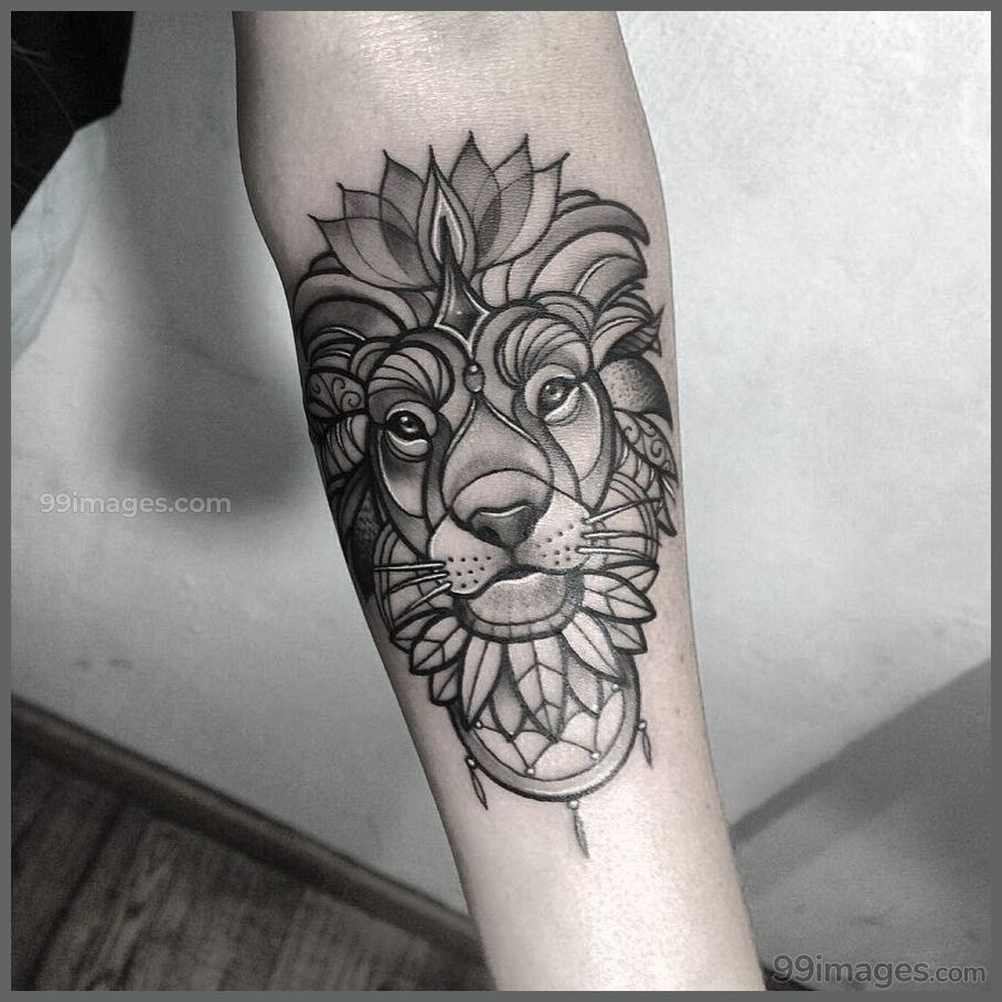 Creative Lion Tattoos (HD Images) - #11508 #liontattoos #tattoos