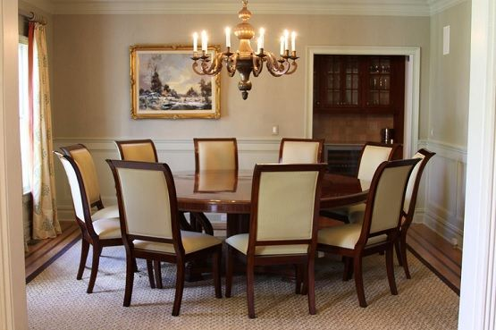 72 Inch Round Mahogany Dining Table Set Round Dining Room Table