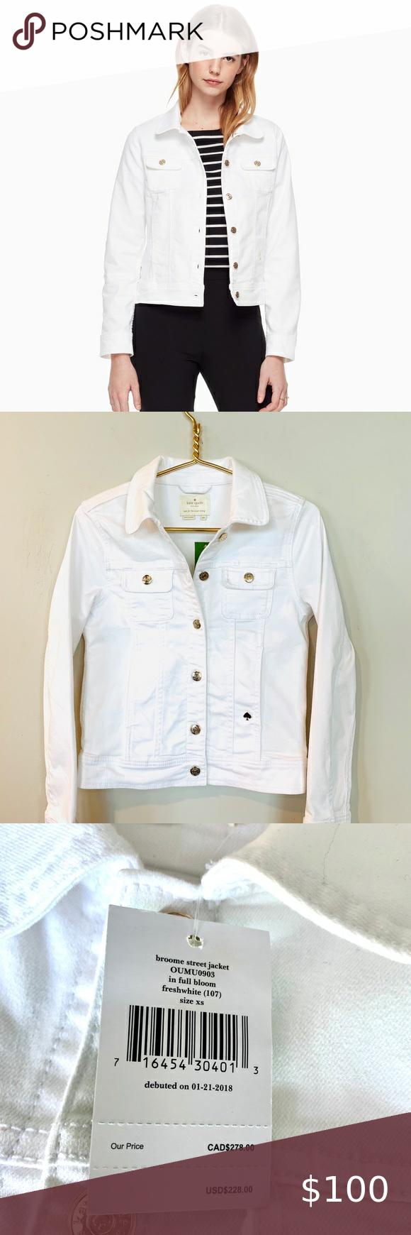 Kate Spade Broome St Fresh White Jean Jacket Xs Kate Spade Broome Street Denim Jacket Brand N White Jean Jacket Jackets Jean Jacket [ 1740 x 580 Pixel ]