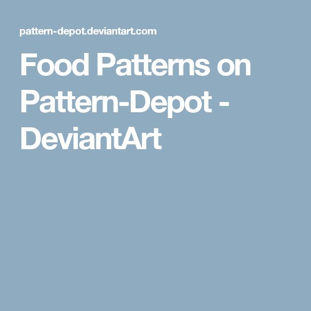 Food Patterns on Pattern-Depot - DeviantArt