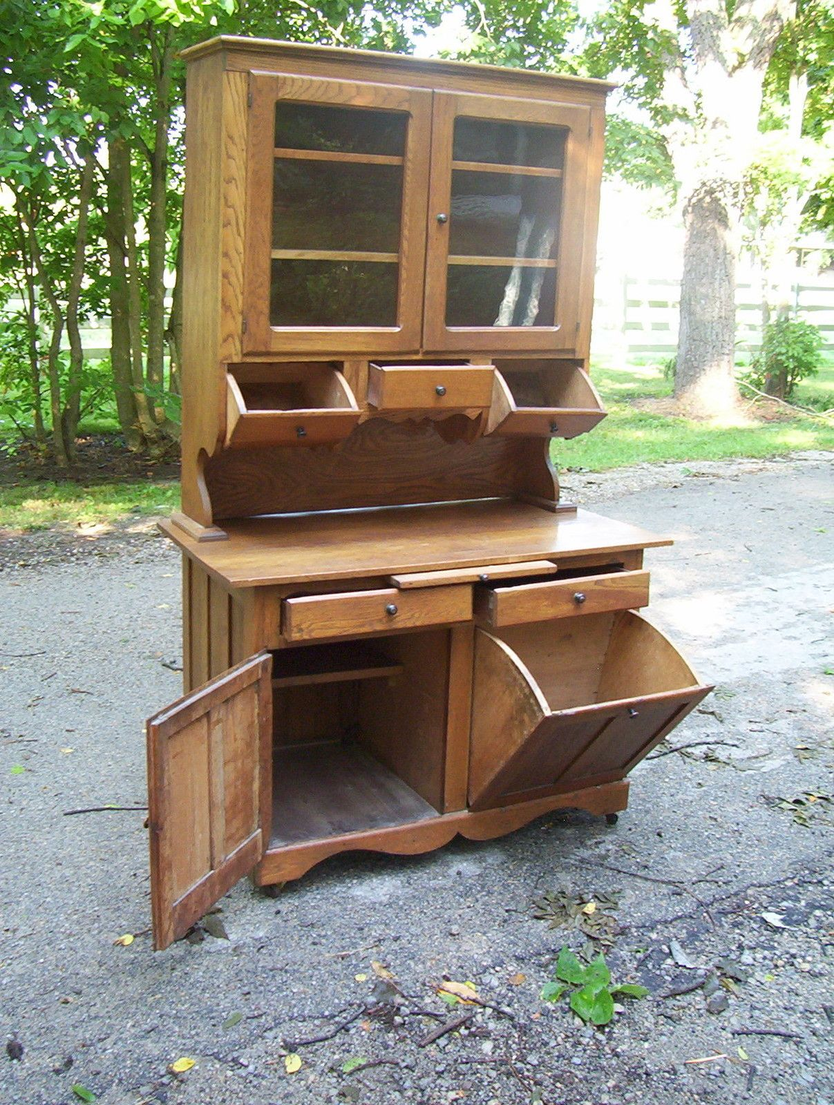 Apartment Size Hoosier Cabinet Hoosier Cabinets Early Hoosier Style Cherry Bakers Cabinet