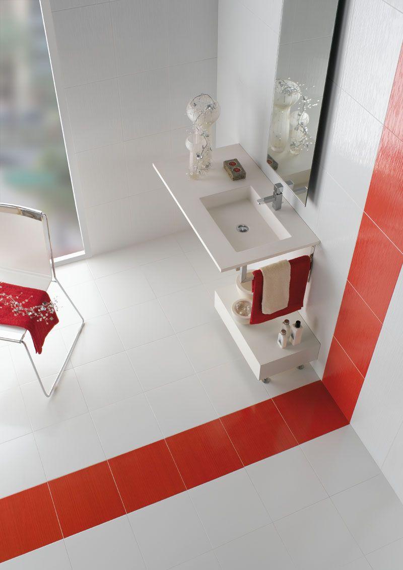 blanco y rojo bano13 | Baños | Pinterest | Rojo, Blanco y Baños