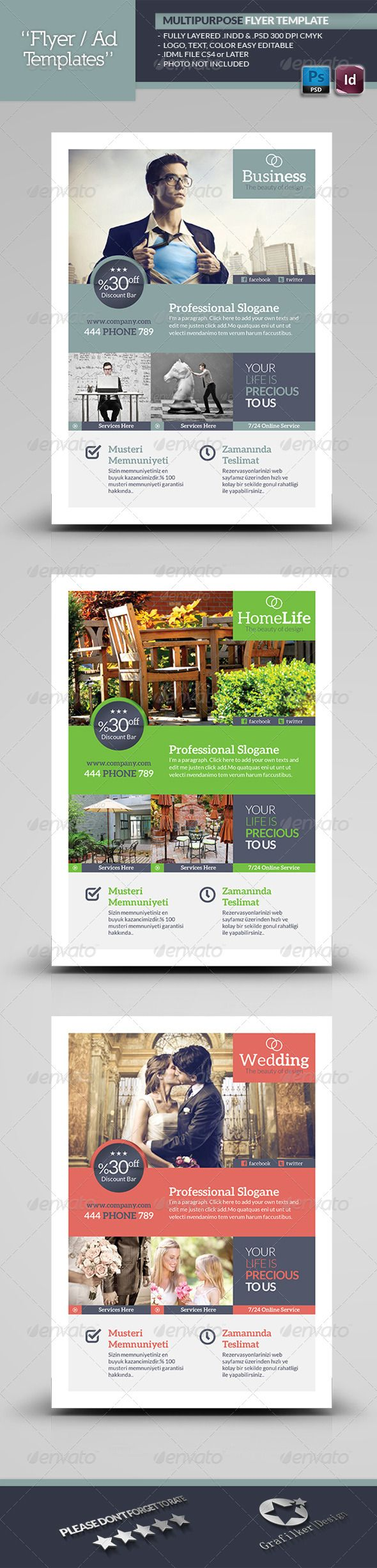 Multipurpose Flyer Template | Creative, Business marketing and ...