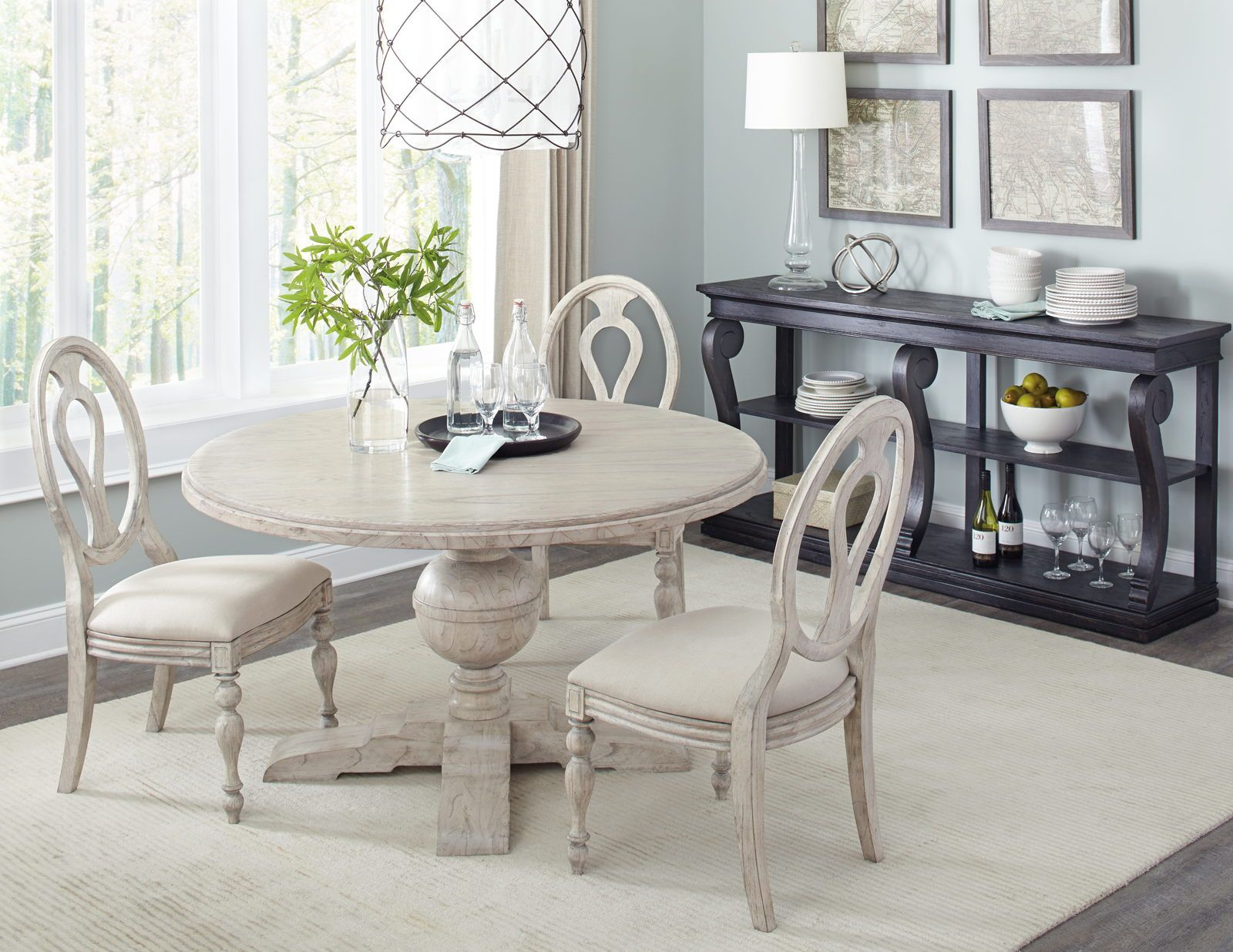 Hekman Homestead Round Dining Set In Linen By Rooms Outlet