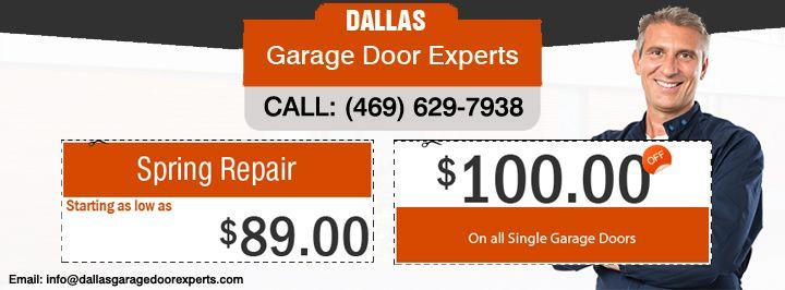 Receive 100 Off On All Single Garage Doors And Garage Door Spring