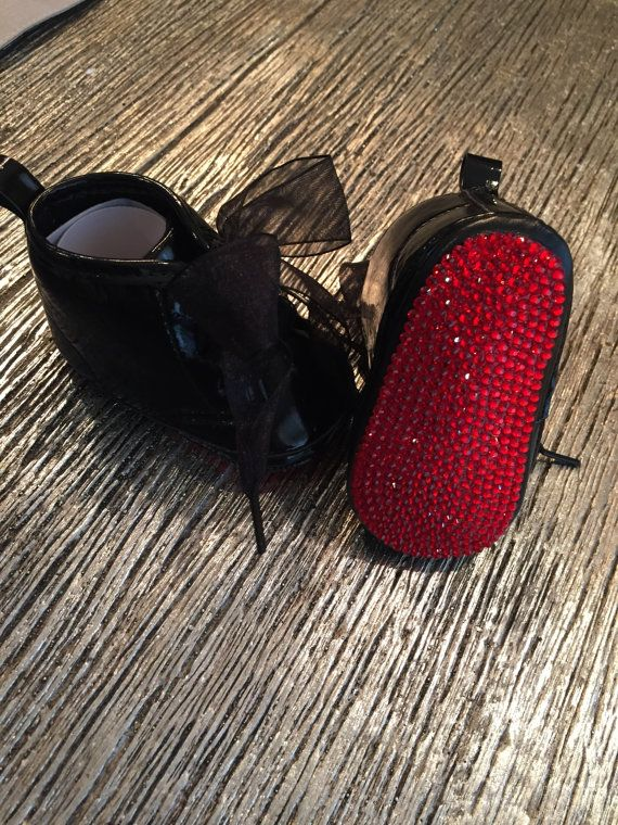 82d5eff8959 Christian Louboutin Inspired RED BOTTOM Crystal Baby Crib Shoes ...