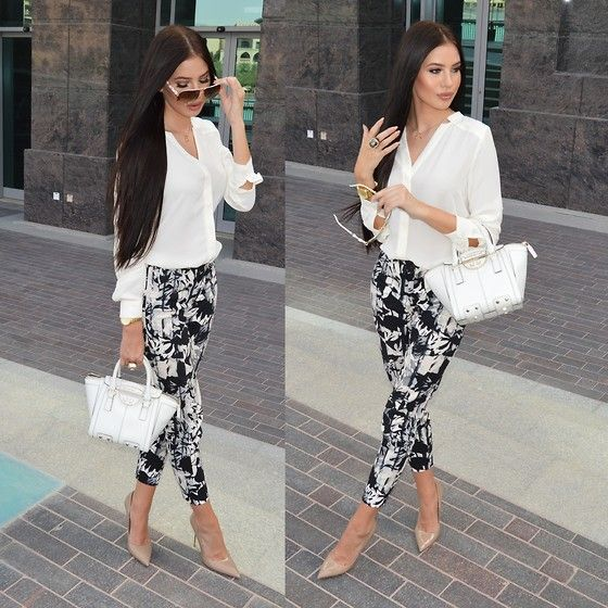 Banana Republic Blouse, Topshop Pants, Karen Millen Bag, Kurt Geiger Heels, Gucci Sunglasses