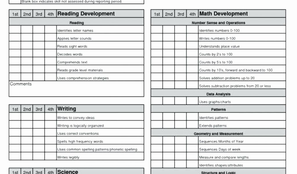 50 inspirational simple blank report card template in 2020