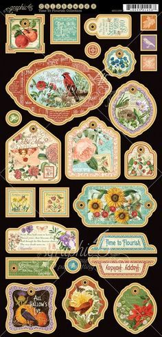 Time to Flourish Decorative Chipboard. Perfect for all seasons! In stores in early November 2014 #graphic45 #sneakpeeks