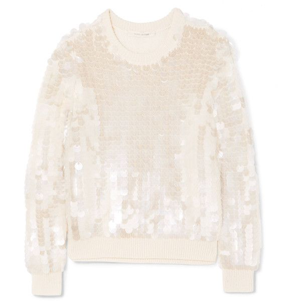 Sequined Wool Sweater - Ivory Marc Jacobs Clearance Ebay IKWIS0