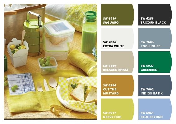 Picnic Paint colors from Chip It! by Sherwin-Williams