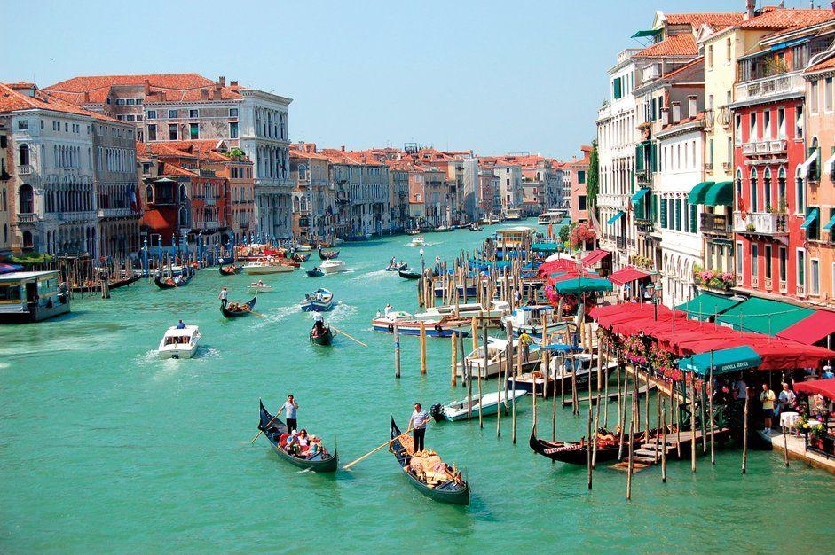 View from Bridge Rialto in Venice, Italy
