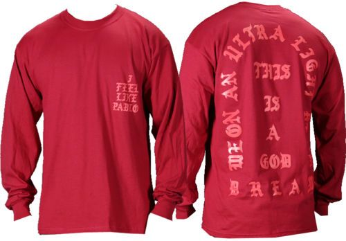 I-Feel-like-Pablo-The-Real-Life-of-Pablo-Yeezy-MSG-Kanye-West-Red-T-shirt