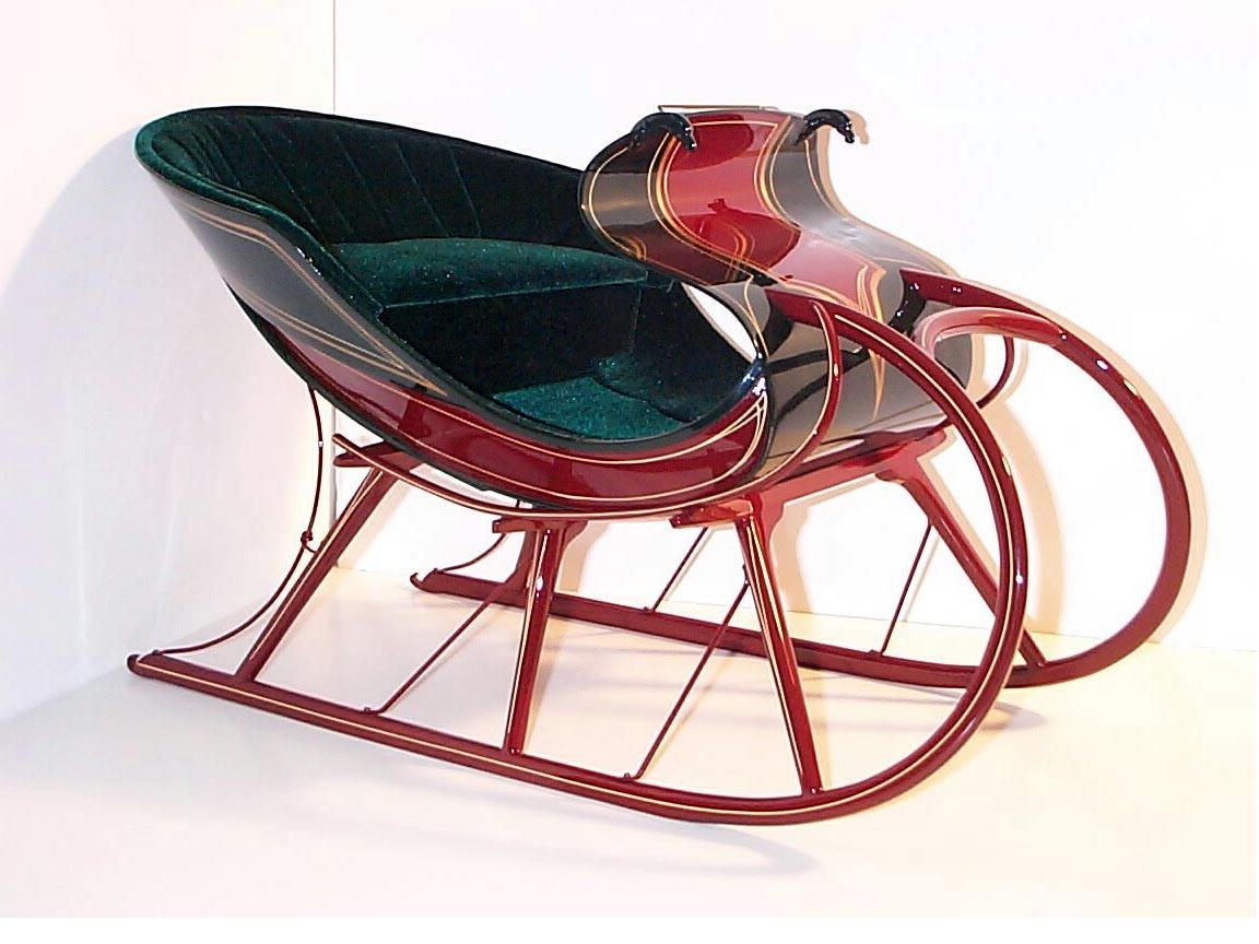 restored Full size horse drawn Portland and Albany sleighs