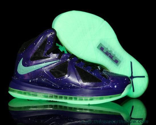 Buy Discount Nike Lebron X Glow in the Dark Sole Galaxy Basketball Shoes  Shop
