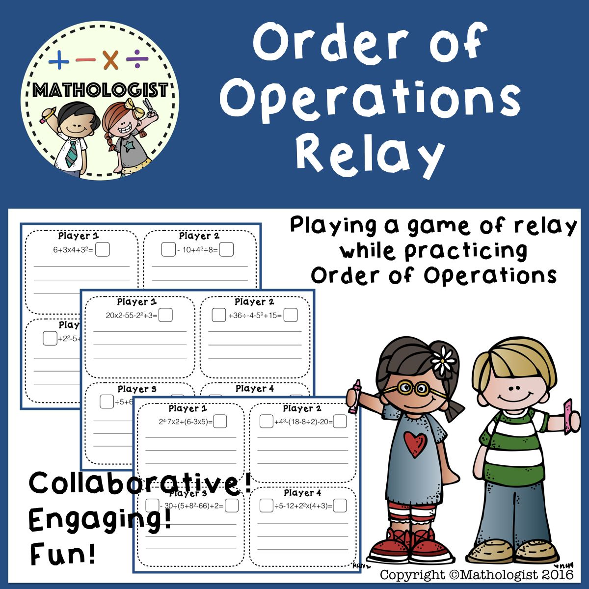 Order Of Operations Relay Pemdas