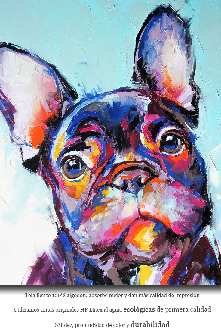Cuadro En Lienzo Bulldog La Tienda Del Cuadro Cuadros En Lienzo Pintura Perro Pinturas De Animales