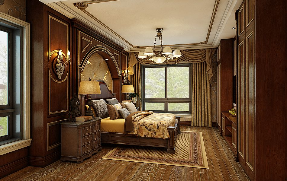 American style villa bedroom decoration | Country style ...