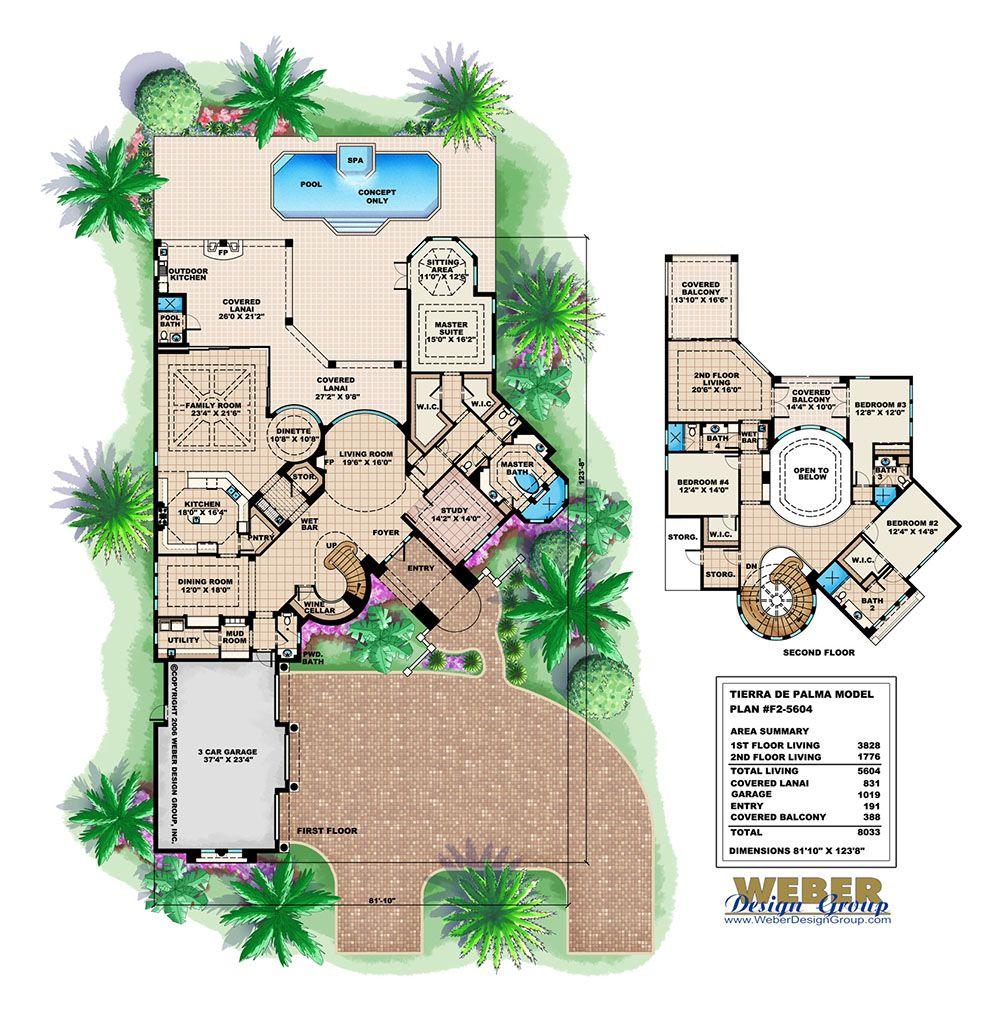 Mediterranean House Plan Coastal Tuscan Waterfront Home Floor Plan House Floor Plans Mediterranean Floor Plans Mediterranean House Plan