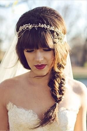 Bridal Hair Accessories Boho : 10 bridal headbands for your wedding blunt bangs and fishtail braids