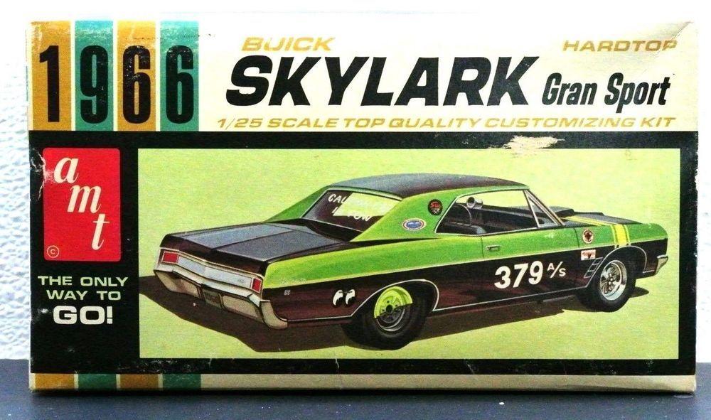 Rare Amt 1966 Buick Skylark Gran Sport Ht 1 25 Plastic Model Car