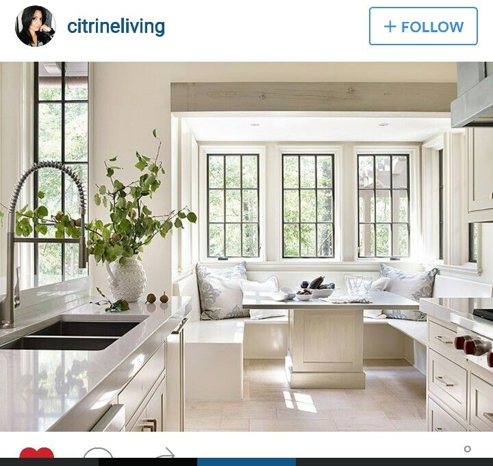 Adore this bright airy nook nothing but kitchens for Sunroom breakfast nook