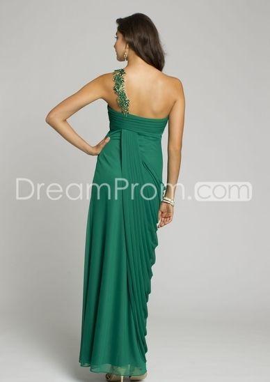 2014 New Mesh One Shoulder Long Dress Prom Dresses