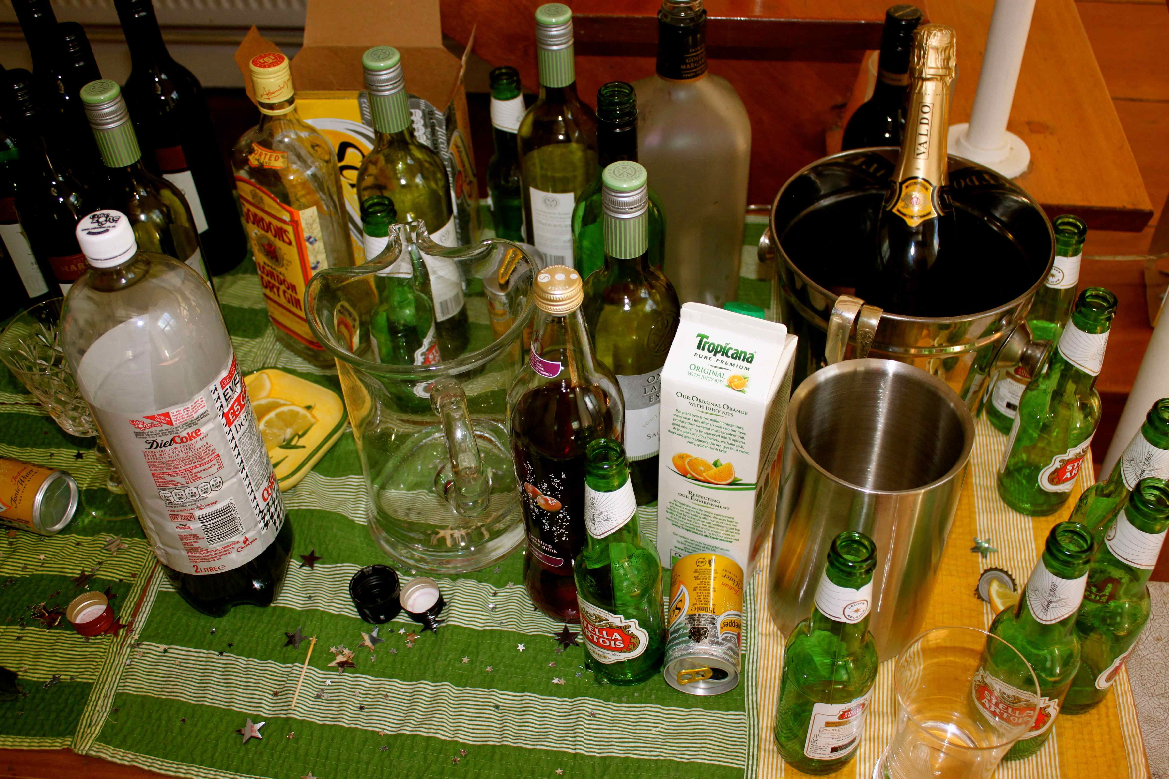 Morning After Party Alcohol Bottles Big Party Bottle