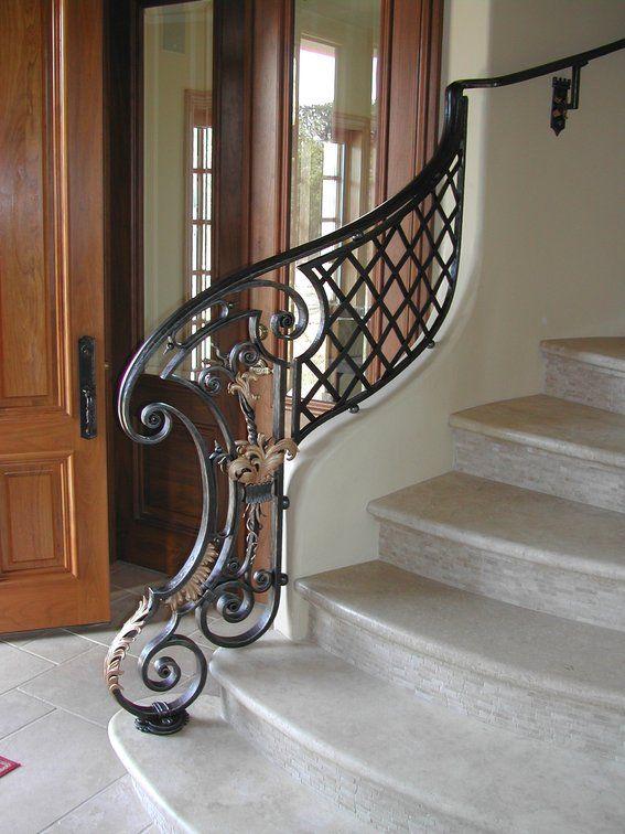 Best Custom Made Louis Xiv Style Stair Railing Newel Iron Stair Railing Wrought Iron Stair Railing 400 x 300