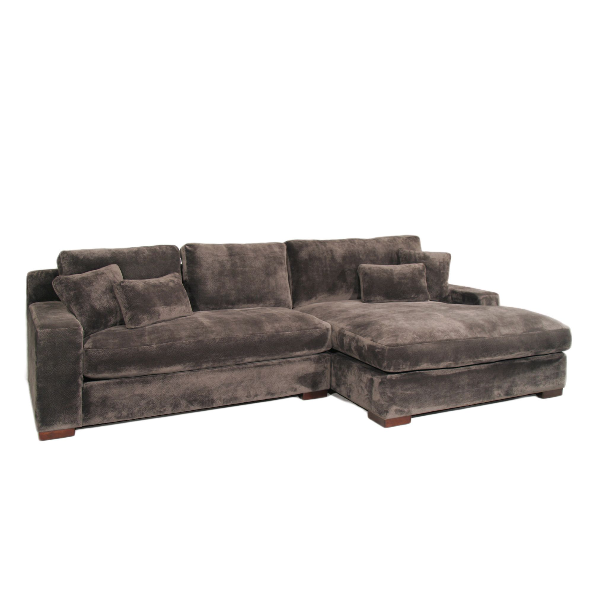 The Casual Contemporary Doris Two Piece Chaise Sectional Is Covered In A Super Soft And