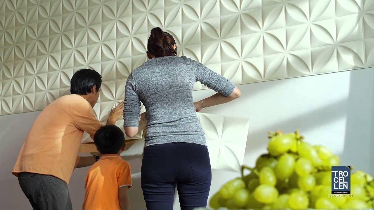 d corer les murs avec des panneaux 3d facile et pas cher 20 exemples bricolage pinterest. Black Bedroom Furniture Sets. Home Design Ideas