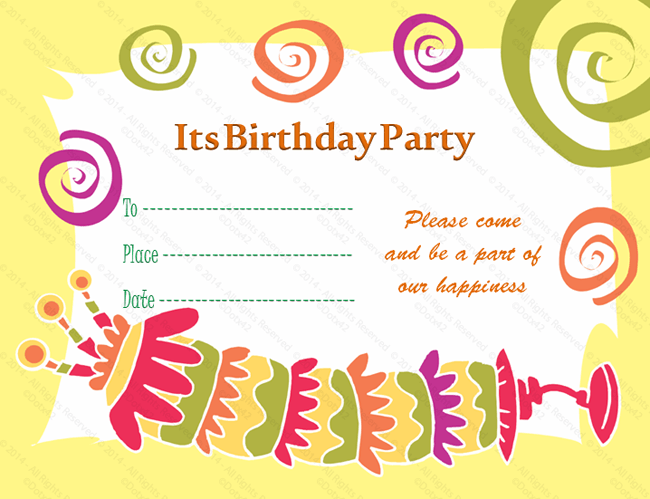 Birthday Invitation Card Template V10 INVITATIONS – Template Invitation Card