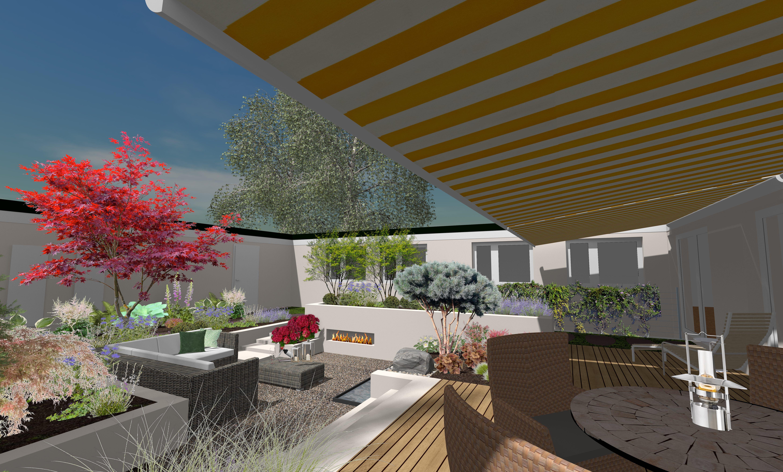 Gartengestaltung Moderne Gartenarchitektur 3d Terrasse Gartengestaltung Garten Design Gartenarchitektur