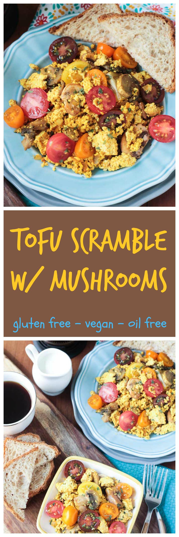 Tofu Scramble with Mushrooms | Recette (avec images ...