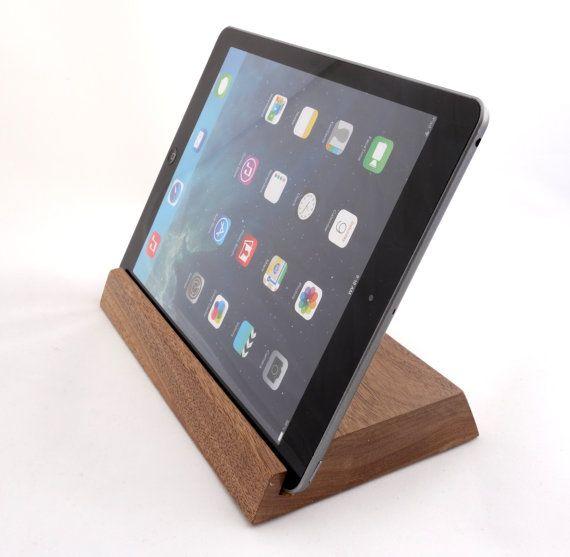 iPad stand/organizer  walnut