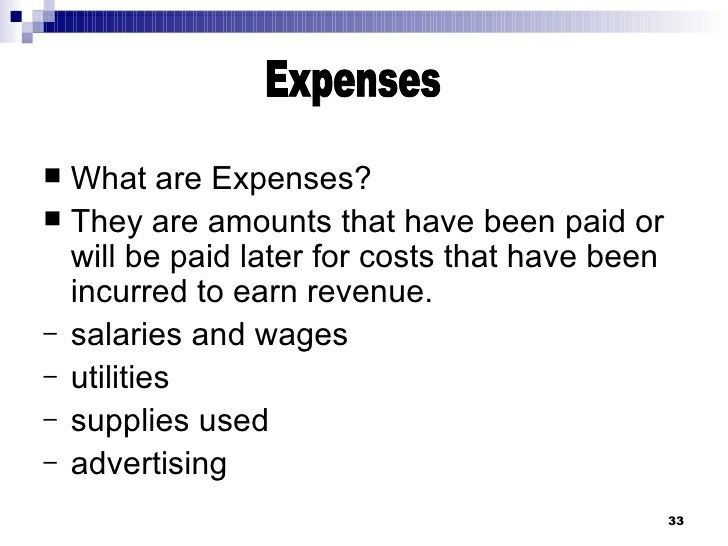 expenses decrease retained earnings and are the cost of assets or services used to earn revenues revenue accounting financial reporting analysis charles h gibson solutions