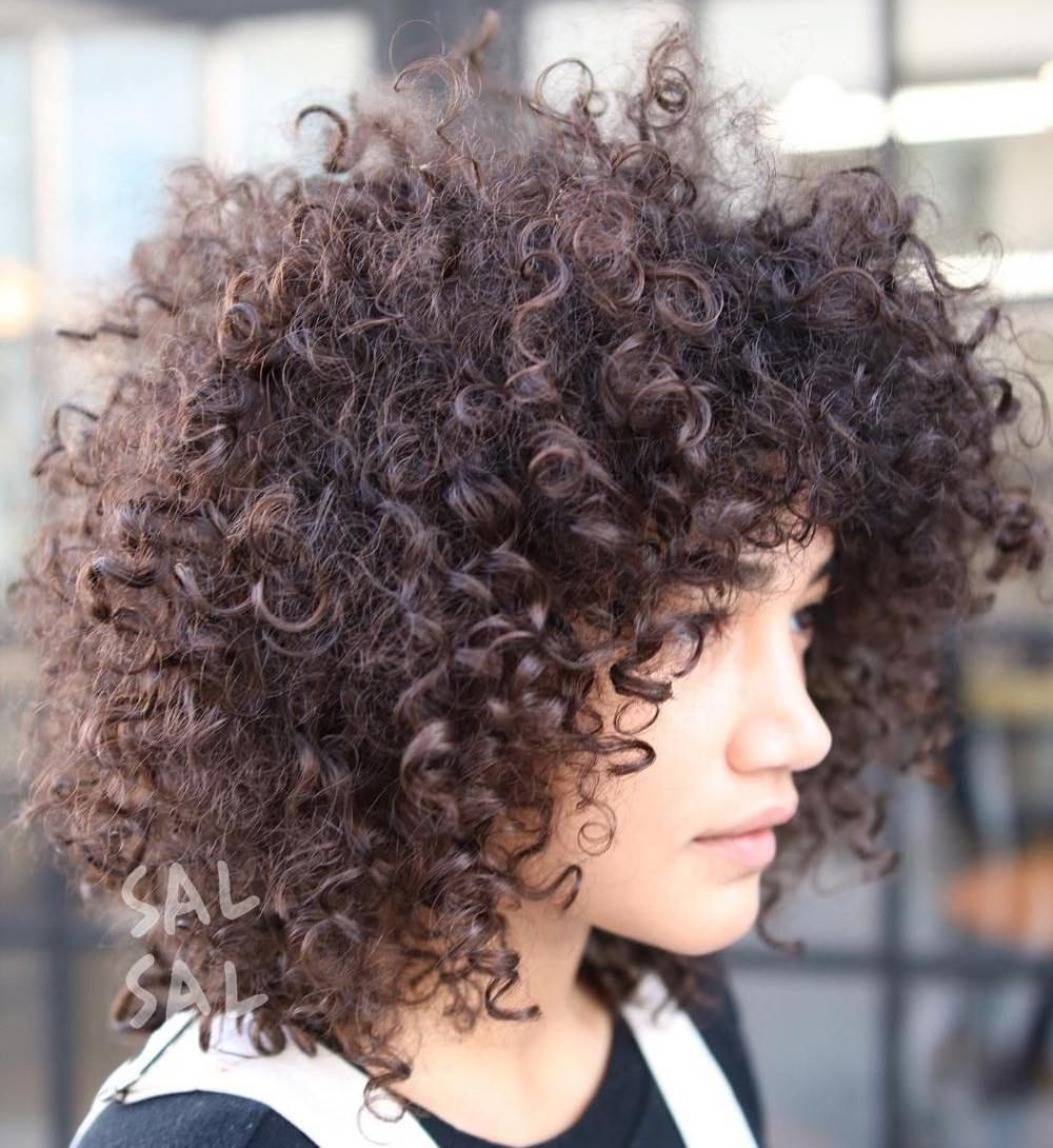 cute styles featuring curly hair with bangs natural curly