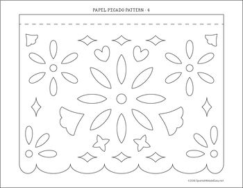 Papel Picado Tissue Banners By Spanish Made Easy Teachers Pay Teachers Mexican Party Theme Papel Picado Banner Papel Picado